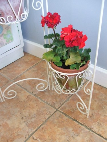 White Wire Planter