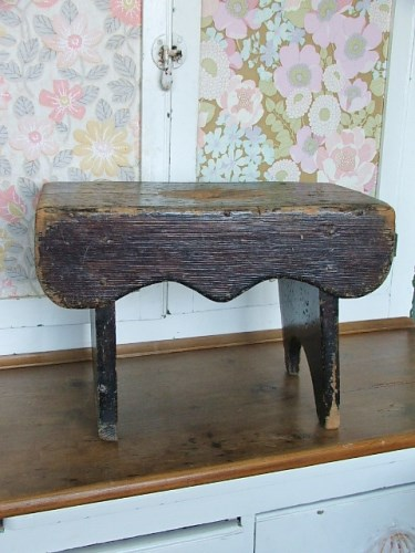 Old Rustic Wooden Stool