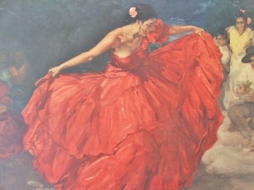 Retro Kitsch The Red Skirt by FRS Clement