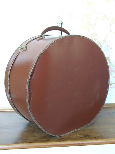 Old Leather Hat Case