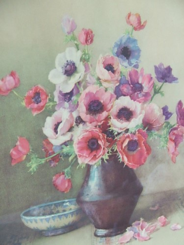 Pretty Vintage Anenome Picture