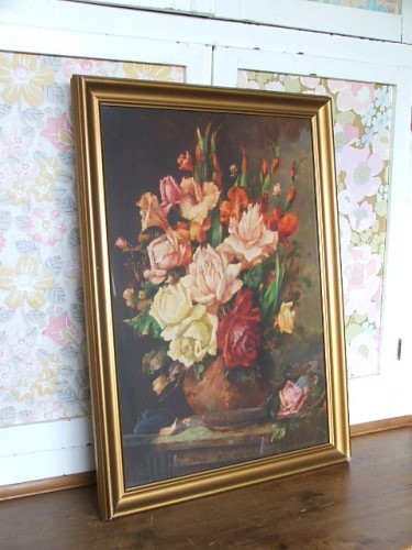Pretty 1940's Floral 'Roses' Picture