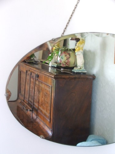 Vintage Bevelled Edge Wall Mirror