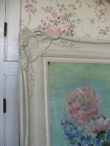 Old Floral Oil Painting