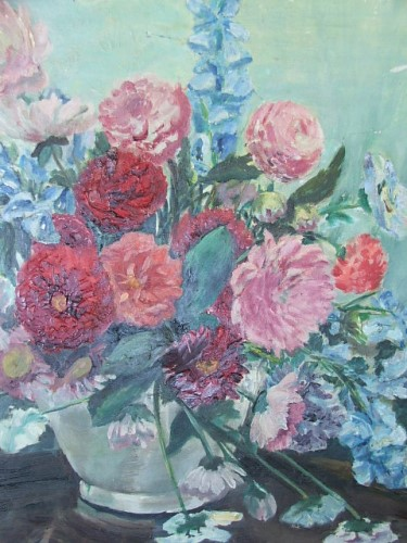 Vintage Flower Oil Painting