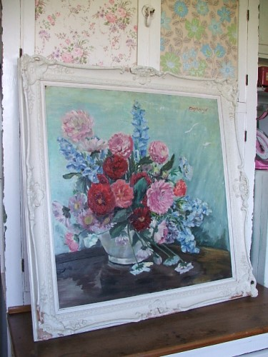 Vintage Flower Oil Painting