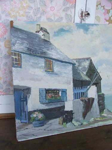 Vintage Cornish Oil Painting