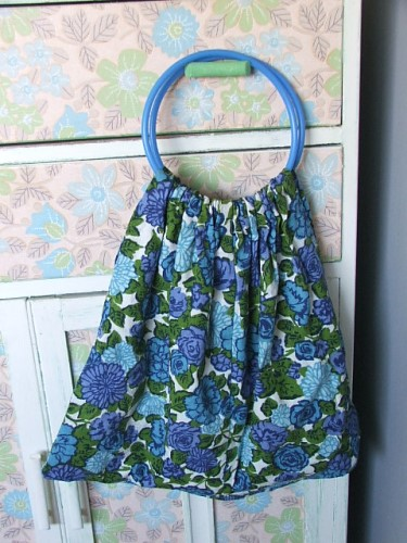 Pretty Vintage Floral Fabric Bag