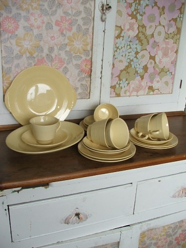 Jasmine Teacups and Saucers