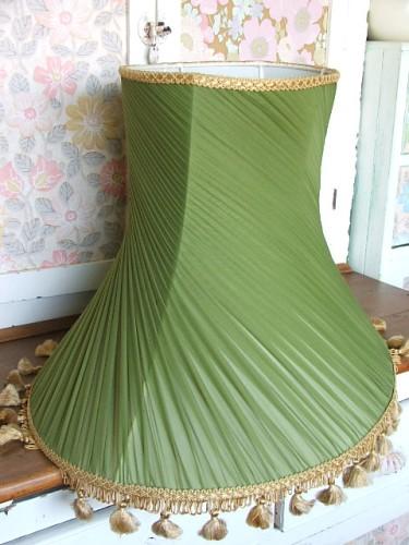Large Vintage Green Lampshade