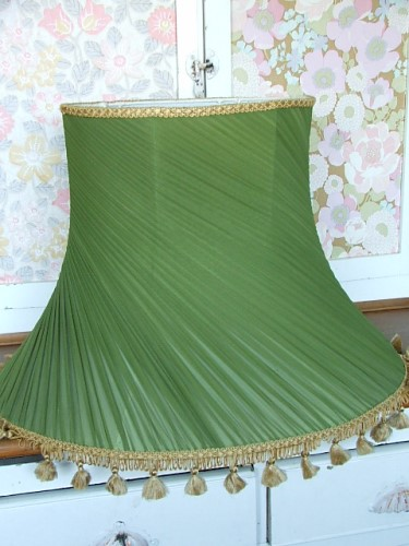 Vintage Green Lampshade