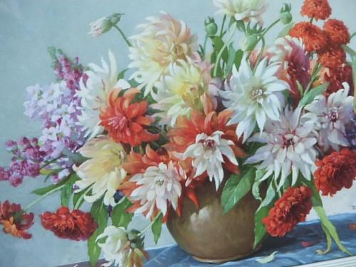 Pretty Vintage Floral Print/Picture