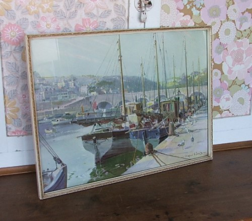 Evening at Looe by Vernon Ward