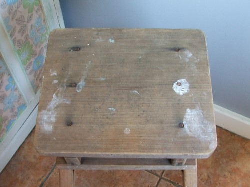 Decorative Wooden Step Stool