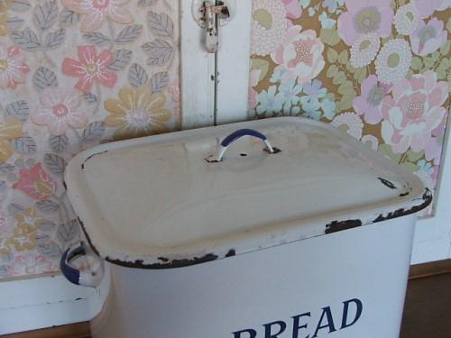 Old Enamel Bread Bin