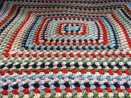 Vintage Crochet Blanket Square