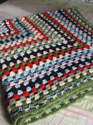 Vintage Crochet Blanket or Throw