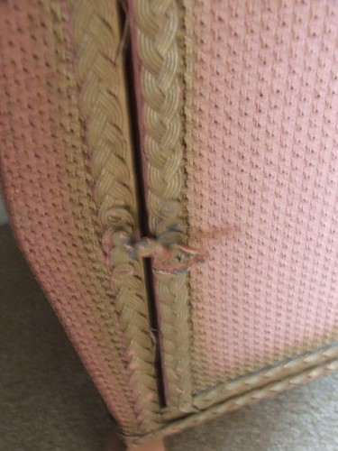 Old Wicker Bedside Cabinet