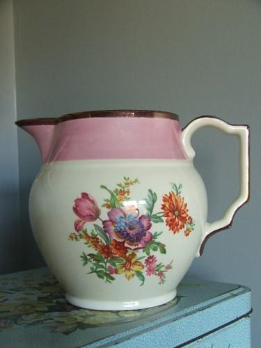 Pretty Vintage Floral Jug