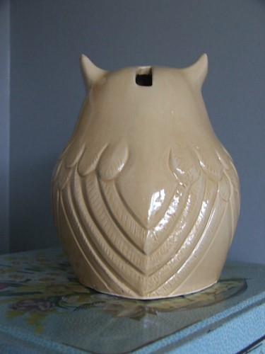 Pottery Owl Money Box
