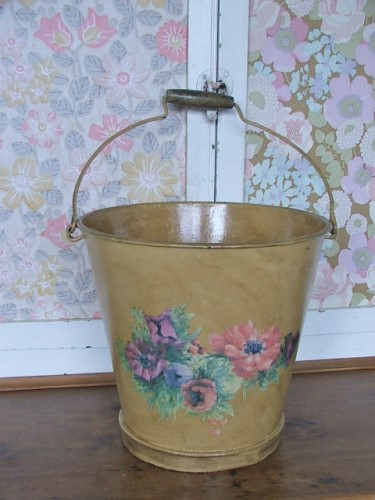 Painted Floral Bucket