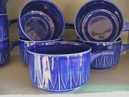 Retro Pottery Soup Bowls