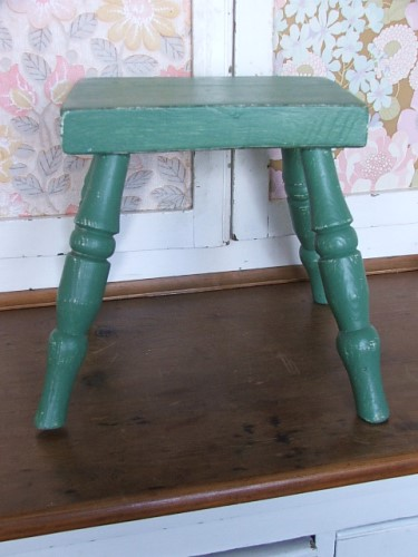 Small Painted Milking Stool