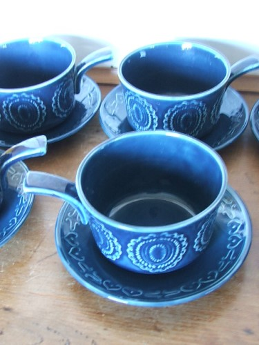 Vintage Soup Bowls with Saucers