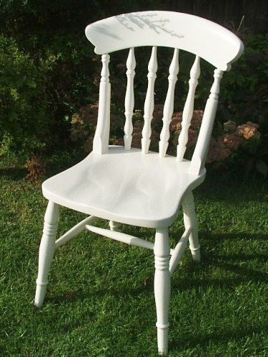 White painted chair for White wooden kitchen chairs