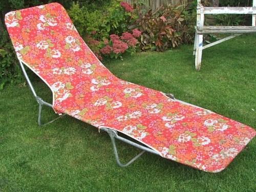 vintage sunlounger