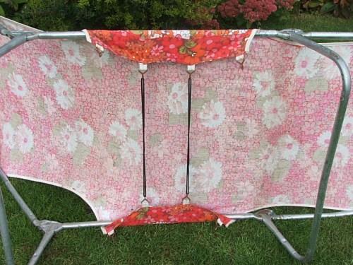 floral vintage sunlounger sunbed