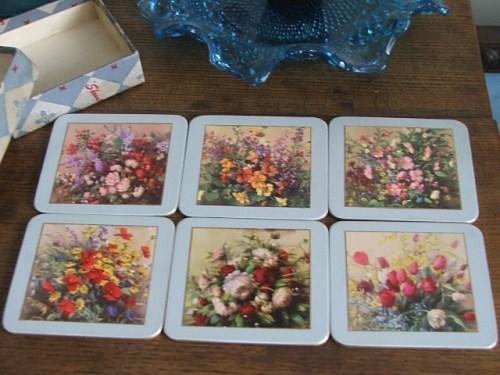Pretty Sheraton Vernon Ward Flowersprays Coasters