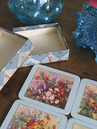 Lovely set of Vernon Ward Floral coasters