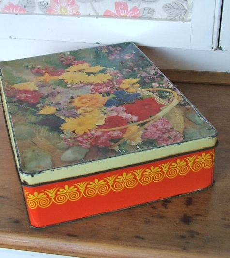 Floral McVities Tin