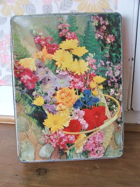 Pretty Floral McVities Tin