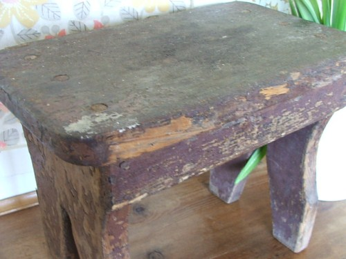 Old Shabby Wooden Stool