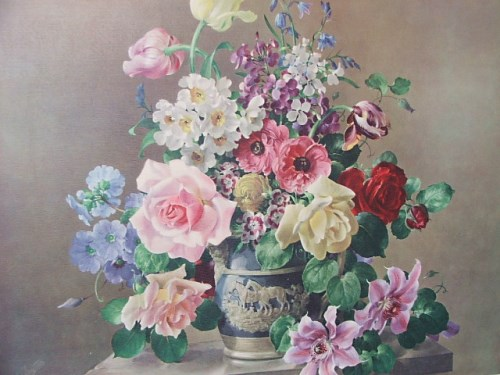 Large Gorgeous Floral Print by Harold Clayton