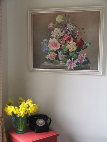 Wonderful Large Retro Floral Board Print