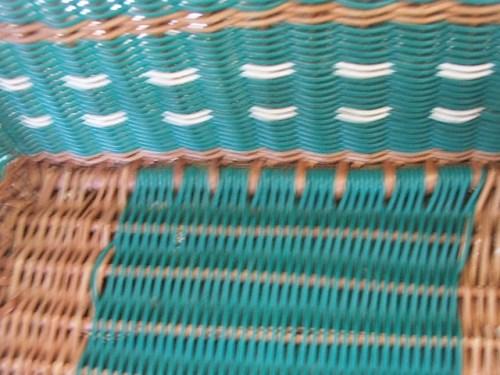 Green Vintage Wicker Basket