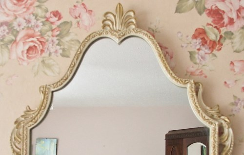 Pretty Ornate Long Wall Mirror