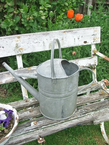 Vintage 2 gallon watering can