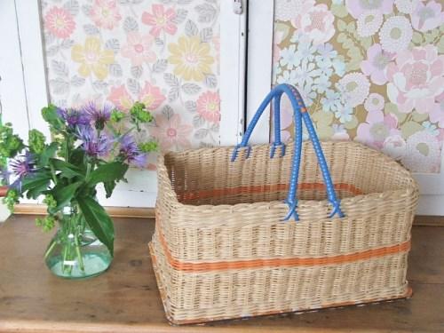 Retro/vintage wicker basket