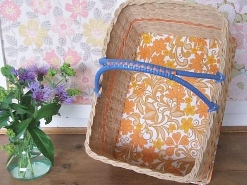 Retro wicker shopping basket