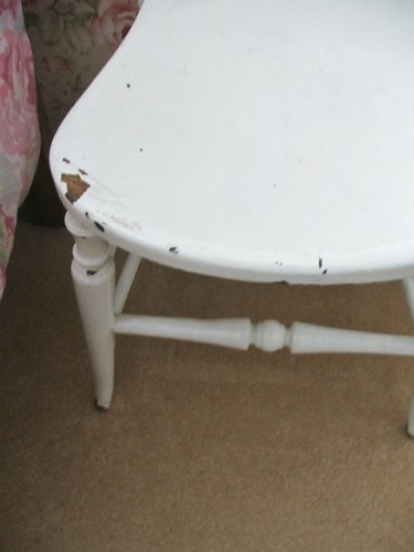 Chippy White Painted Wooden Chair