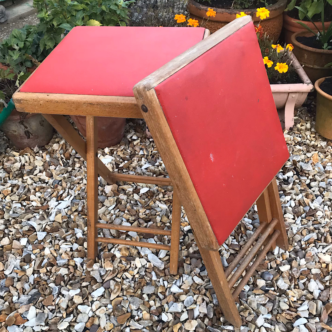 Pair of Folding Stools