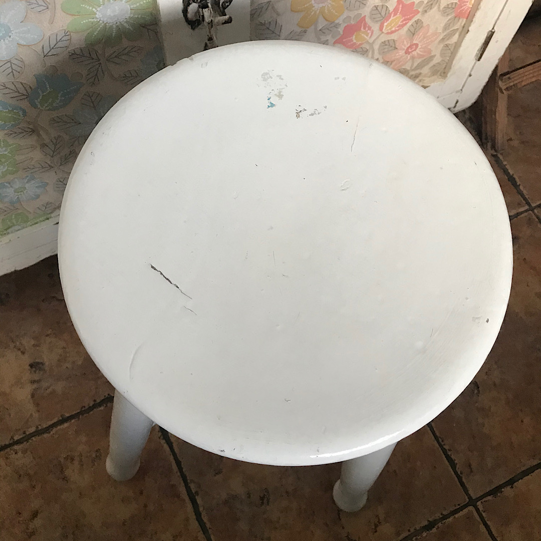 Painted Wooden Stool