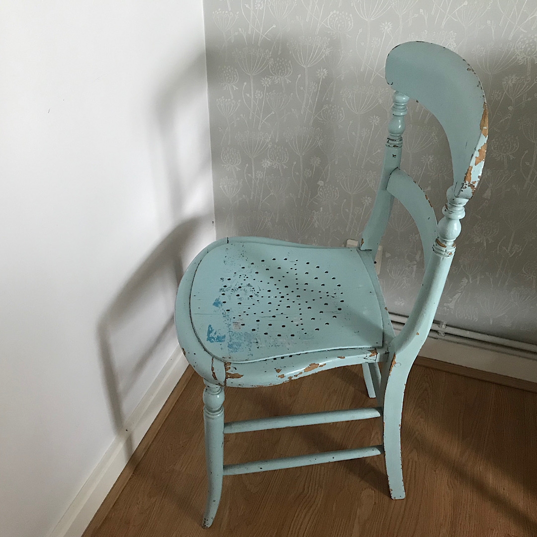Vintage Painted Wooden Chair