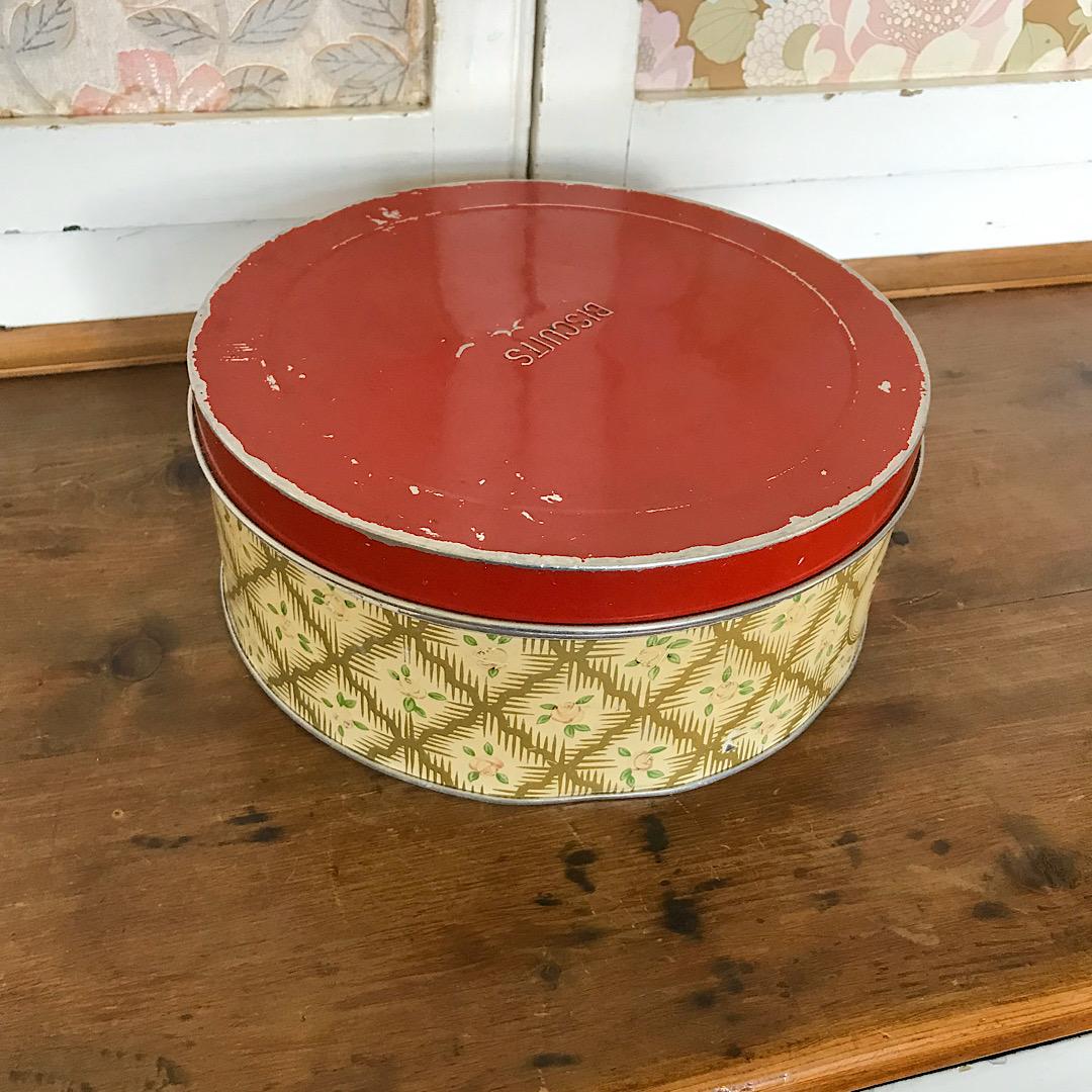 Vintage Worcester Ware Biscuit Tin