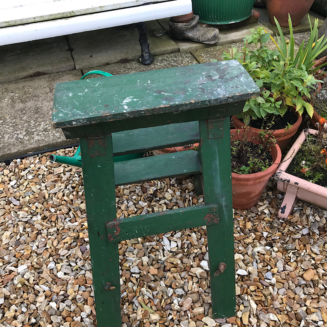 Old Vintage Painted Wooden Steps