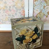 Vintage Floral Desk Drawers